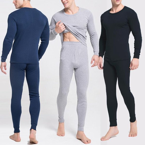 Plus Size 4XL Mens Clothing Warm Winter Men's Thick Thermal Underwear Long Johns Men Thermal Underwear Sets 2pcs/set
