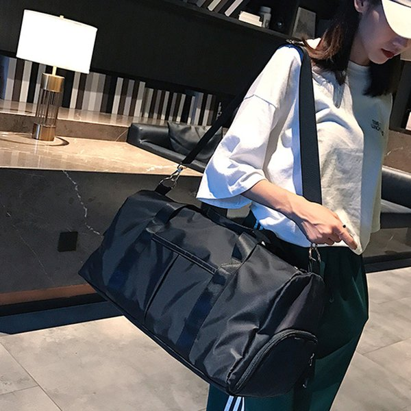 Women Dry Wet Separated Adjustable Strap Sports Yoga Gym Bag Outdoor Waterproof Fitness Nylon Storage With Shoe Compartment