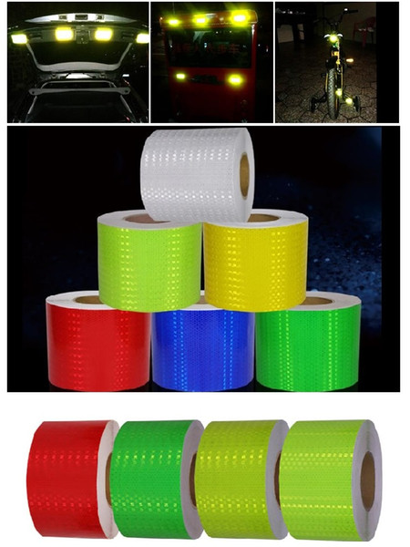 best selling 15CM*1M Width Super Reflective Car Decoratiive Sticker PVC Reflective Self-adhesive Tape Road Traffic Warning Sign Safety Tape