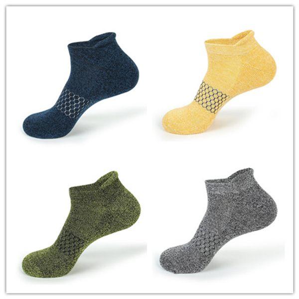 Спортивные мужские невидимые носки на открытом воздухе Хлопковые многоцветные пазлы Носки высокого качества и высокой эластичности Легко впитывают пот