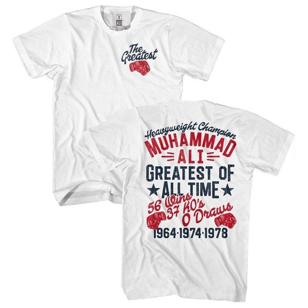 Muhammad Ali Mens New T-Shirt Sizes SM - 5XL Greatest Glove in 100% White Cotton Classic Cotton Men Round Collar Short Sleeve top tee