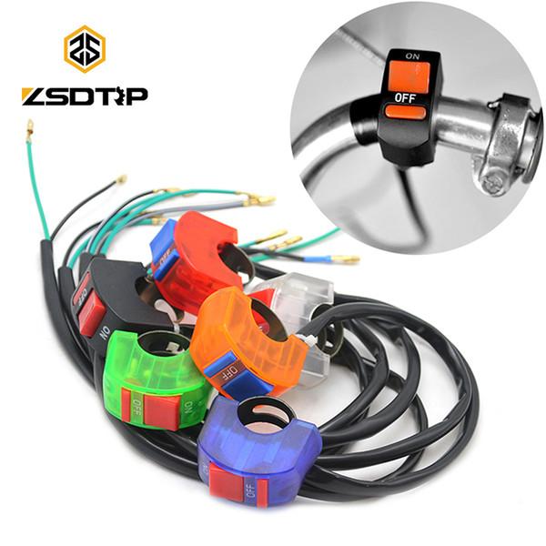 ZSDTRP 12V Рога Переключатель головного света Черная кнопка включения-выключения Руль в сборе для мотоцикла скутера