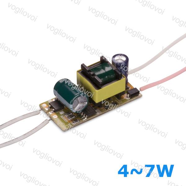 Трансформатор LED течения 300mA электропитание AC110 220В ac240v ряда ІР20 4Вт 5Вт 6 Вт 7 Вт для светильник прожектор лампы встроенным драйвером товары для печатных плат