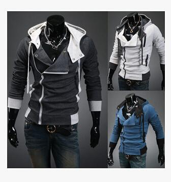 Mens Assassins Creed 3 Desmond Miles Costume Hoodie Cosplay Giacche / Cappotto Hoodie Cosplay Coat COS Giacca M-6XL direttamente dalla fabbrica