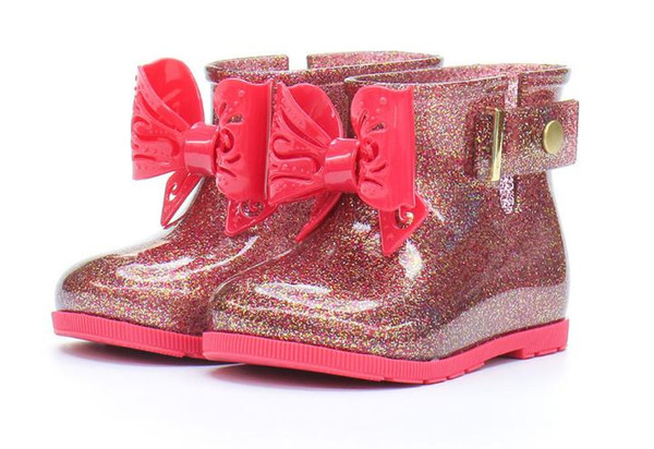 Kleinkind Kinder Sugar RainBoots für Mädchen Jungen Wasserdichter Gummibogen Regenstiefel Schuh Einfach zu tragen GRÖSSE 6-11