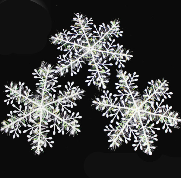 2019 DIY Plastic White Fake Snowflakes For Home Christmas Party New Year Xmas Tree Pendants Ornaments Window Decoration