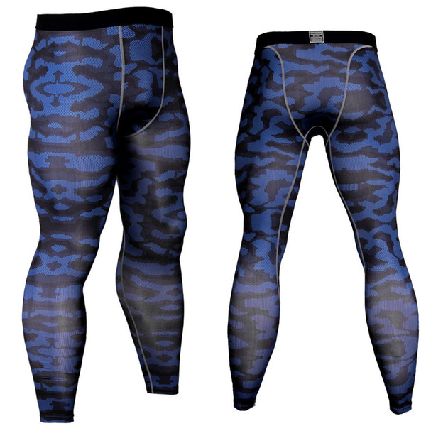 2019 Gyms Muscle Bodybuilding Camouflage Mens Long Leggings Elastic Compression Skinny Pants Quick Dry Man Legging Dropshipping