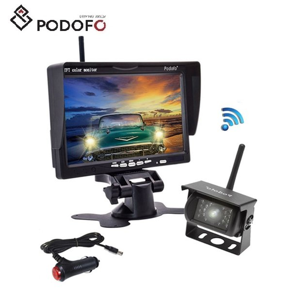 2019 Podofo Wireless Backup Camera 7 Hd Tft Lcd Car Rear View Monitor Night Vision Parking System For Truck Rv Trailer Motorhome Bus Camper From