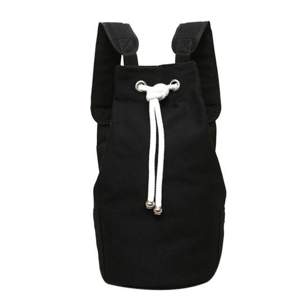 AUAU случайные мужчины холст большой емкости баррель рюкзак мода простой путешествия рюкзак пакет подросток школьная сумка