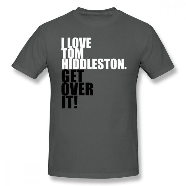 Tom Hiddleston T-shirt J'aime Tom Hiddleston Get Over It T-shirt Imprimé Tee Shirt Casual Mens Cute 5x T-shirt en coton