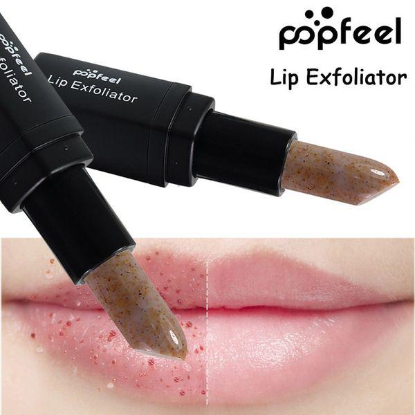 top popular DHL 120pcs lot Makeup Lips Care Dead Skin Remover Moisturizer Nutritious Lip Exfoliator Brand Lip Balm Cosmetics Lips Scrub Stick Exfoliator 2021