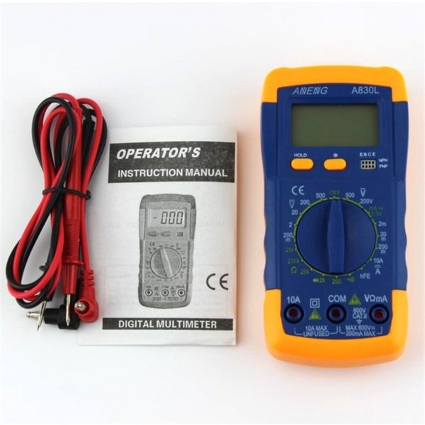 Handheld LCD Display Digital A830L Multimeter LCD AC/DC OHM Voltage Ammeter Resistance Capacitance Tester