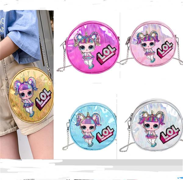 Surprise Girls Laser Chain Single Shoulder Bags Women Party Outdoor Travel Storage Mobile Phone bag Cartoon Purse Shiny Crossboy Bags B71002