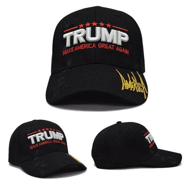 Hot Date Trump Ball Caps Make American Great Again Chapeau Avec USA Drapeau Casquette de Sport pour Hommes et Femmes de Haute Qualité Free Ship