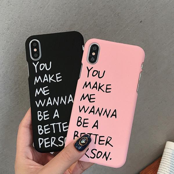 Englisch alphabet phone cases romantische paare für iphone xs max pc halbe packung harten handy case für iphone 6 7 8 plus