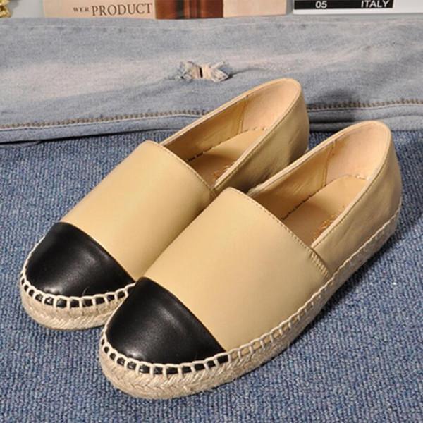 Yaz yeni varış Sneakers kaliteli yumuşak Hakiki deri Flats bayanlar kaymaz kadın sürüş rahat düz Espadrilles Spor ayakkabı