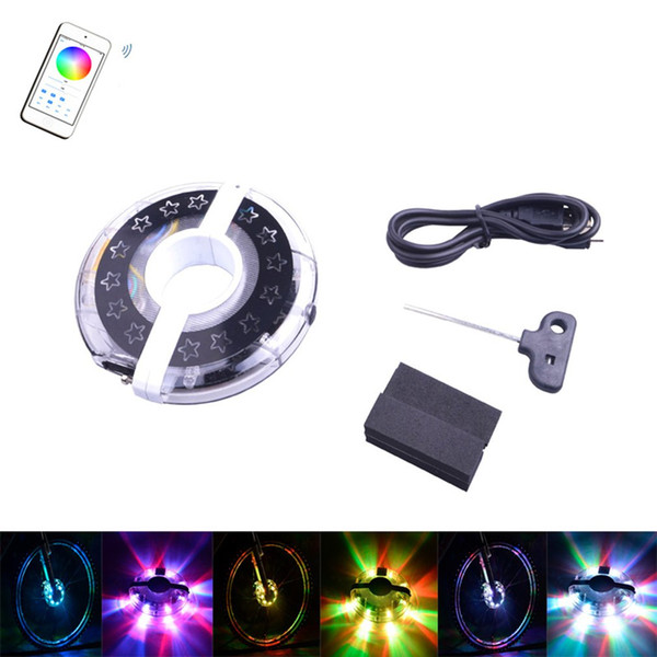 WHEELIGHT Bicycle Cycling Bike Light APP Smart Flower Drum Light LED full color any color shiny