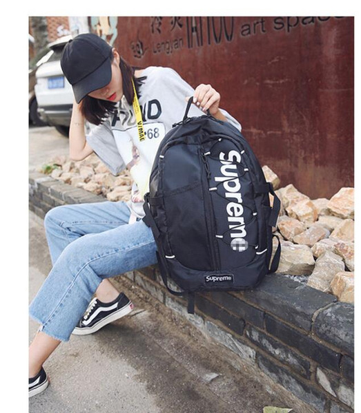 Tide бренд американский ретро письмо рюкзак Гонконг Harajuku хип-хоп скейтборд сумка случайный рюкзак мужчины и женщины студент сумка