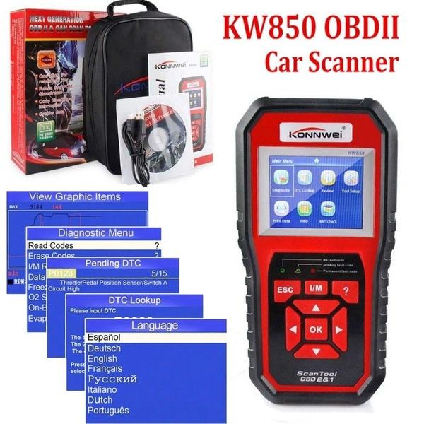 Marka Yeni KW850 OBDII OBD2 EOBD Araba Otomotiv Silme / Sıfırlama Arıza Kodları Teşhis Tarayıcı