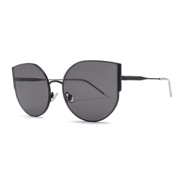 2019 Cat Sunglasses Women/Men Vintage Glasses Retro Rimless Sun glasses Female Eyewear UV400 Big name design with box FML