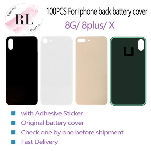100PCS OEM para iPhone 8 8 mais X bateria tampa da caixa de substituição de vidro com cola