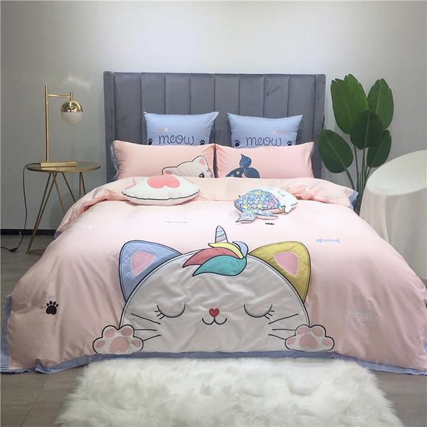100/% Cotton Appliqued Home Sweet Home Quilt Doona Duvet Cover Set King Single