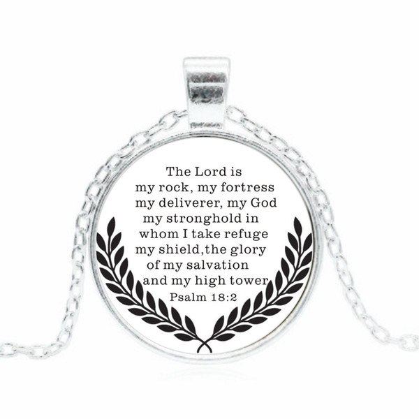 2019 Psalms Glass Pendant Necklace Fashion Wheat Ear Pattern Alloy Necklace Convex Short Sweater Chain Creative Clothing Accessories