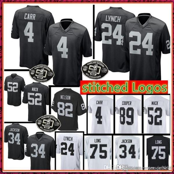 4 Derek Carr 24 Marshawn Lynch Oakland Jersey Raiders Mens 34 Jackson 82  Jordy Nelson 75 0965fe4ee