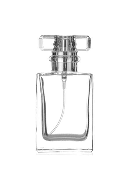 Contenedor de perfume de vidrio cuadrado de 30 ml Viaje Mini atomizador recargable Botellas de perfume Estuche de pulverización de bomba de aroma Sin aire Cosmético 30cc