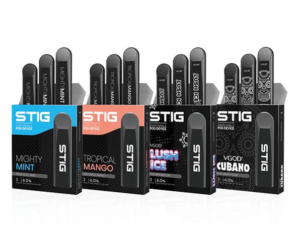 Hotest Stig Pod Одноразовый набор Vape Pen 270 мАч Полностью заряженный аккумулятор с емкостью 1,2 мл Одноразовые электронные сигареты Высочайшее качество