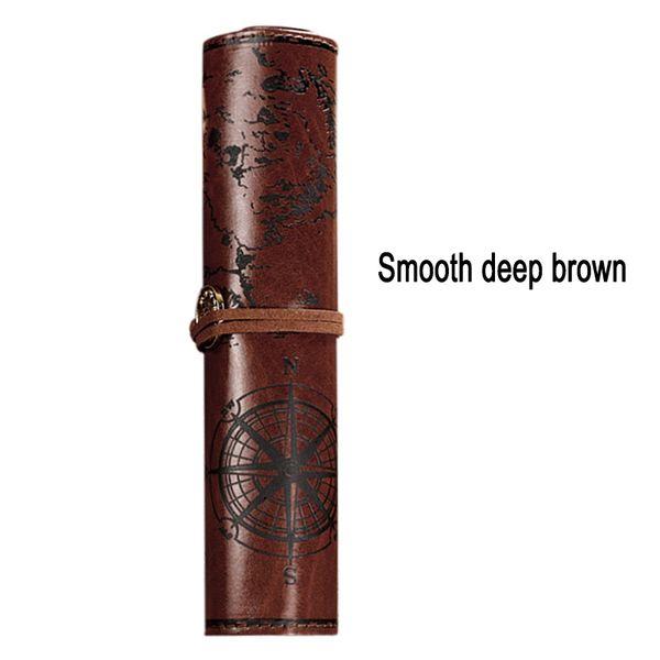 de color marrón oscuro suave