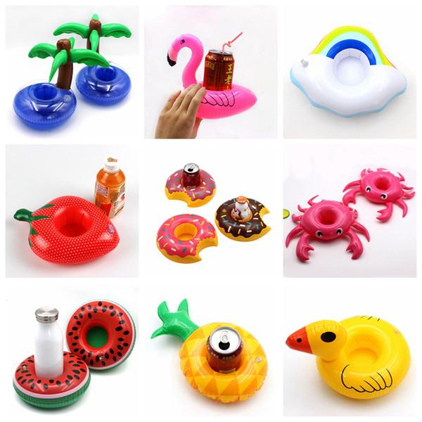 Portavasos inflable Uniicorn Flamiingo Soporte para bebidas Piscina Flotador Piscina para piscinas Decoración de fiesta de juguete Decoración de bar Bar Posavasos VT0051