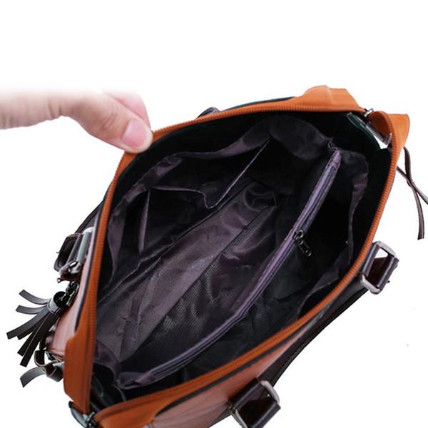 1 Set Women Lady Shoulder Crossbody Bag Handbag Wallet PU Leather Vintage for Travel WF 668