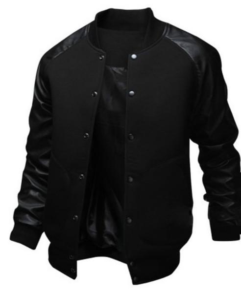 ZOGAA 2019 NOVO Jaqueta de Bolso Grande dos homens Magro Hip Hop Jaqueta De Beisebol Designer de Longo-luva Cor Pura Jaqueta Blusão Homens