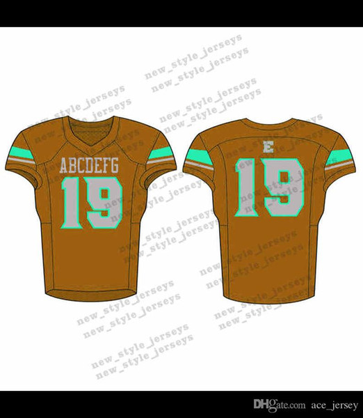 52Men 2019 Youth Football Jerseys Army Green Wine Red Embroidery Logos Stitched Custom Any name Any number Jerseys
