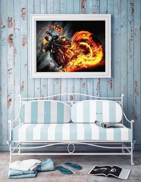 Marvel Ghost Rider,Home Decor HD Printed Modern Art Painting on Canvas (Unframed/Framed)