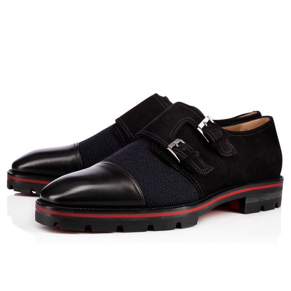 Sıcak Satış-moda yeni erkekler elbise ayakkabı siyah deri loafer'lar resmi ayakkabı erkekler iş ayakkabıları kırmızı taban