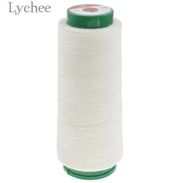 Lychee Life 1000m wasserlösliche Nähgarn rohen weißen Faden DIY Nähzubehör Zubehör