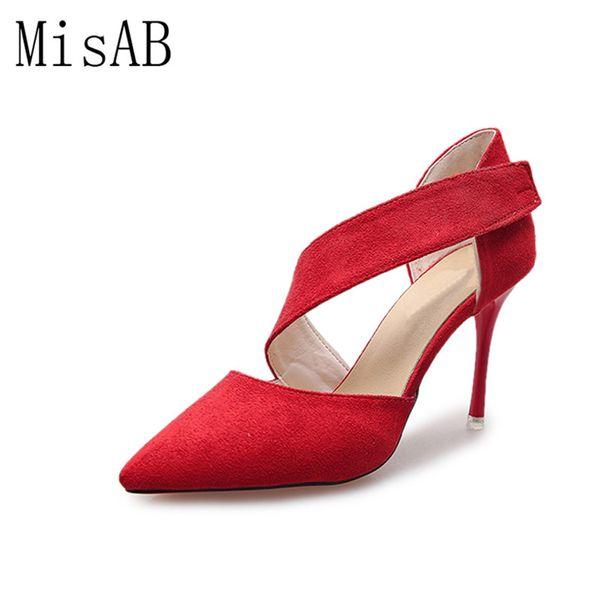 Designer Dress Shoes women casual high heels women pumps sandles spring autumn fashion elegant buckle flock party datting platform pumps