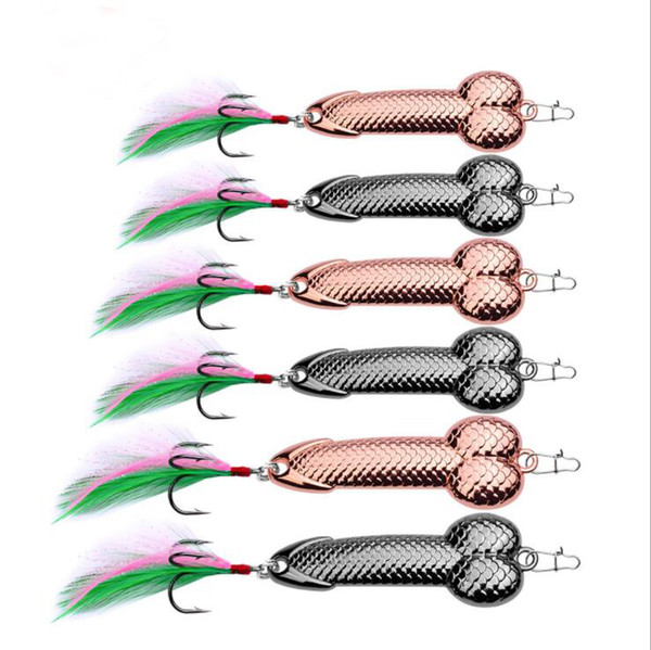 best selling New Arrival 2 Colors Gun Black and Gold Spoon Wire Bait Feather Fishing Lure VIB Metal Tackle Hard Hook 3g 1#