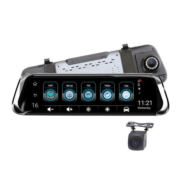 E08 Pro America Versão 4G 10 Polegadas ADAS Câmera Traço Dual Cams HD1080P GPS Navi Gravador de Vídeo de Carro WIFI Hotspot Bluetooth EEN