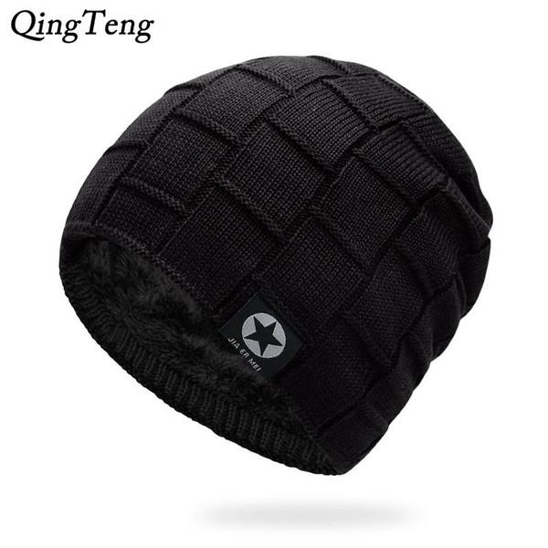 Mens Winter Hat Casual Brand Knitted Ladies Hats Beanies Stocking Hat Plus Velvet Rasta Cap Skull Bonnet Hats For Men