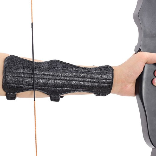 1pcs leather finger arm guard archery protective gear sleeve sports accessoriesve thumbnail