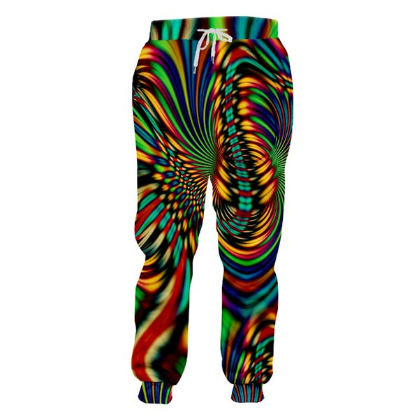 Man New Hipster Sweatpants Men's Colored Creative Trousers 3D Full Printed Vortex Stripes Loose Cozy Big Size Pants