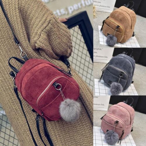 Nuova borsa di moda per le donne Borse da donna Velluto a coste Mini zaino Scuola ragazza Borsa a tracolla zaino in velluto borse da viaggio