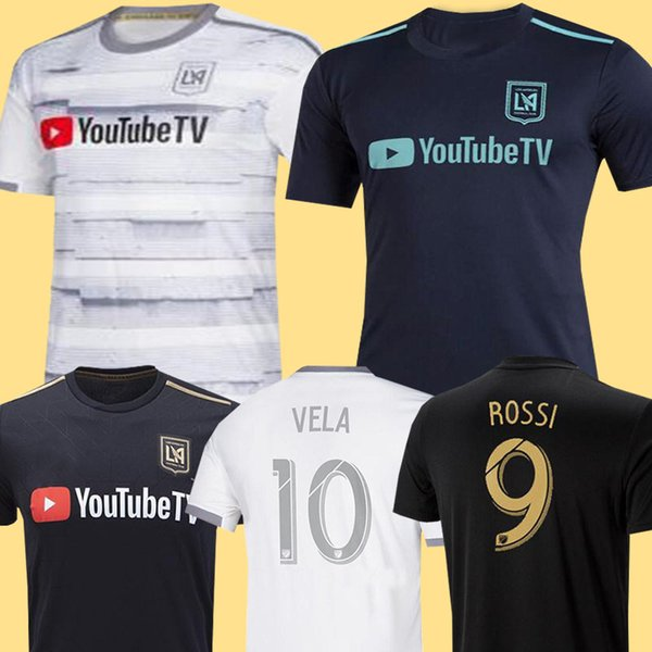 best selling New Arrived 2019 LAFC Carlos Vela Soccer Jerseys 18 19 20 Home X ZELAYA ROSSI Los Angeles FC Black Parley Primary WHITE Football Shirts