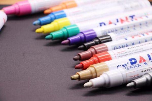 best selling colorful Waterproof pen Car Tyre Tire Tread CD Metal Permanent Paint markers Graffiti Oily Marker Pen marcador caneta G633