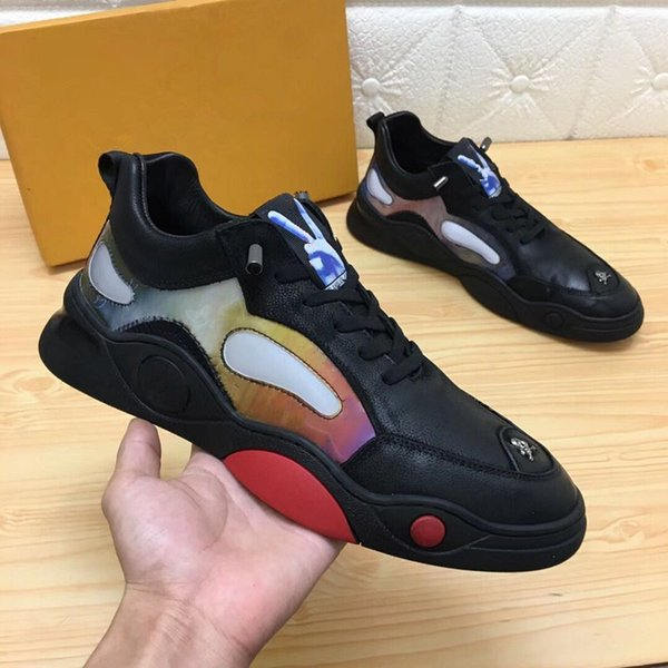 2019 hot new designer shoes RUN designer ladies men's sports and leisure leather mesh casual shoes 38-45 bv01
