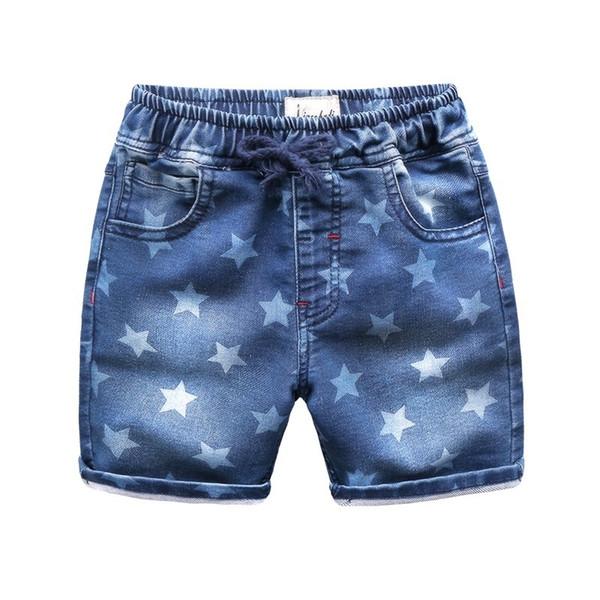 2019 OLEKID Summer Boys Denim Shorts Brand 100% Cotton Star Prints Shorts Boys For 2-7 Years Children's Shorts Kids Clothing