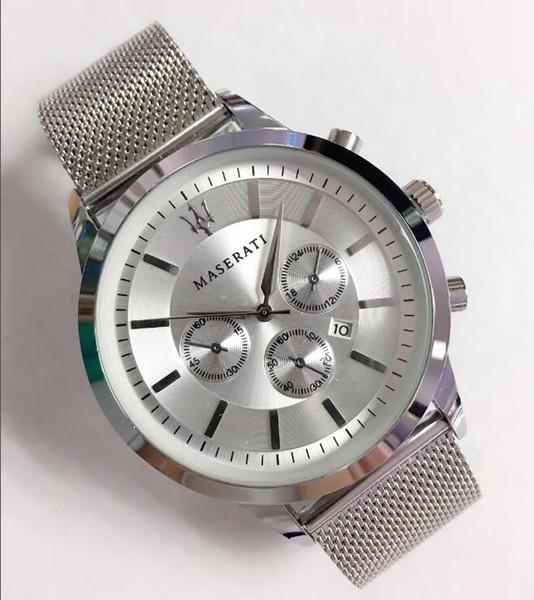 cinturino in acciaio inossidabile di alta qualità con cinturino in quarzo, orologio da uomo in acciaio moda impermeabile, cinturino in acciaio